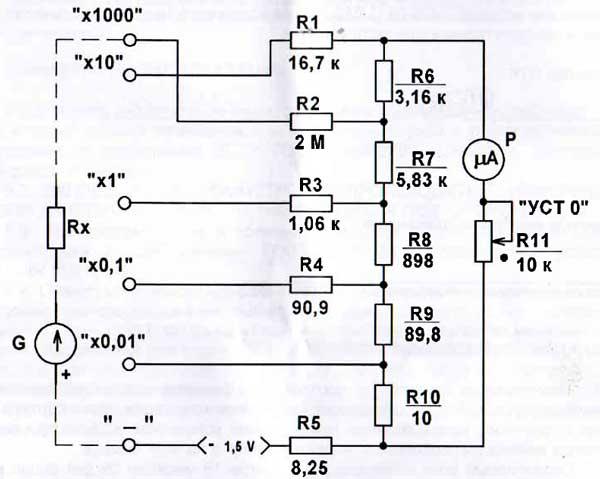 сфотографировать такой электросхема омметра картинки алла